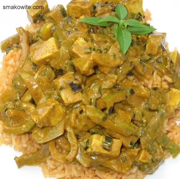 tofu curry z papryką