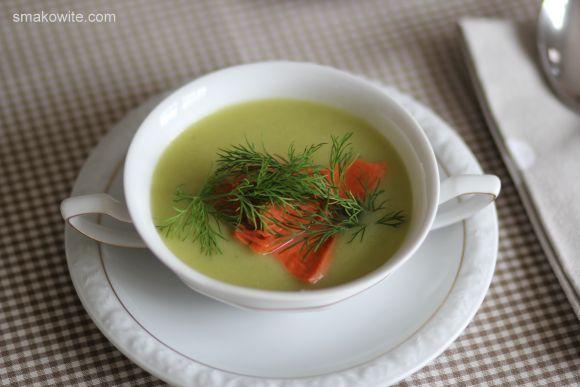 zupa porowo-ziemniaczana z lososiem