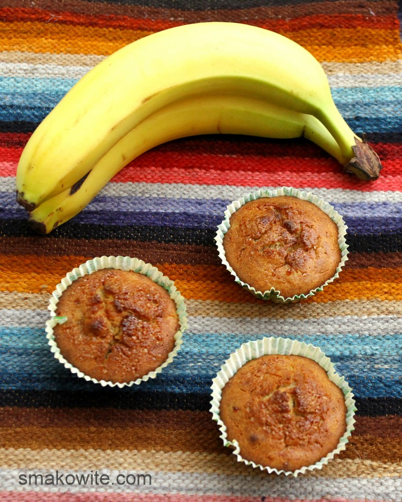 muffinki bananowe z brązowym cukrem