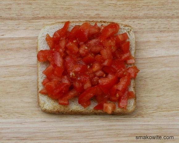 grzanki z pomidorem i oliwą