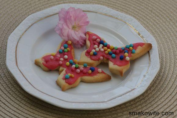 ciasteczka z lukrem malinowym 1