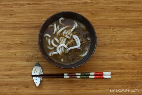 zupa grzybowa z miso i makaronem udon