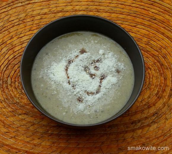 zupa porowo-pieczarkowo-jaglana