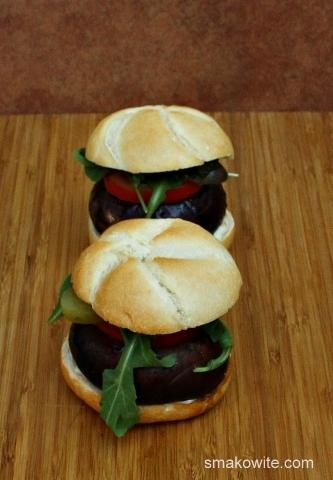 burgery z pieczarkami portobello
