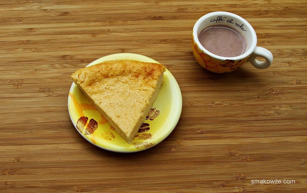 sernik cytrynowy i kakao
