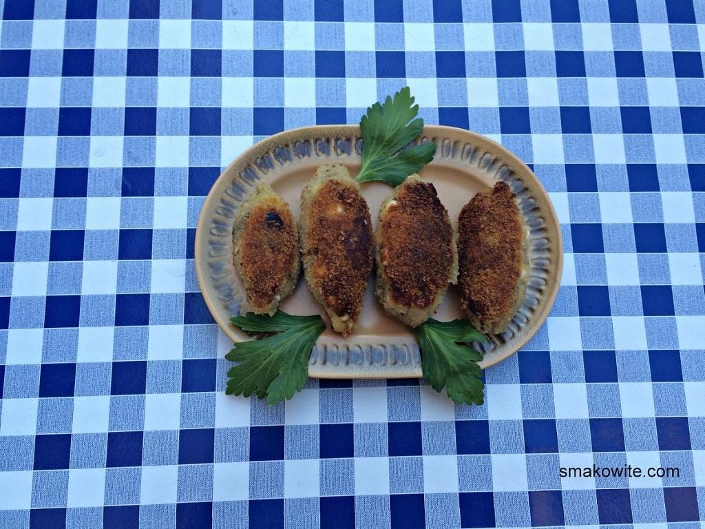 krokiety z baklazana i fety