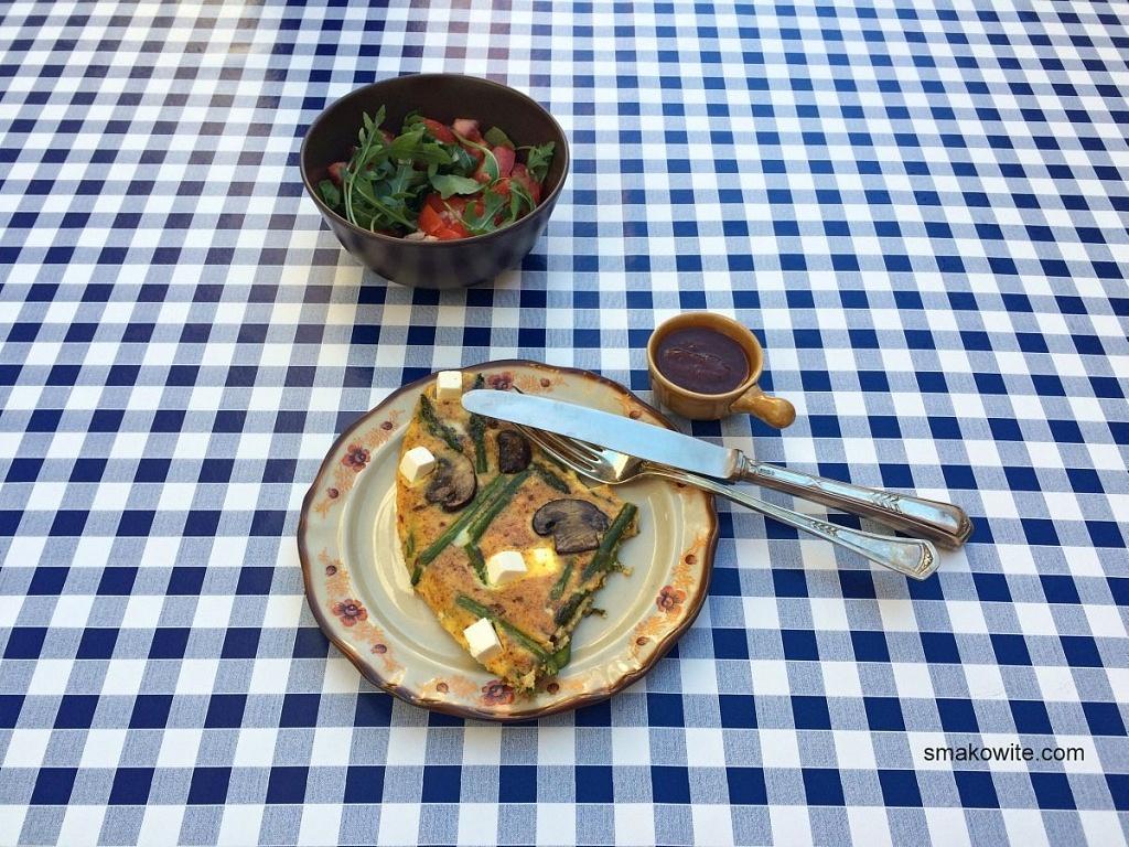omlet z salatka